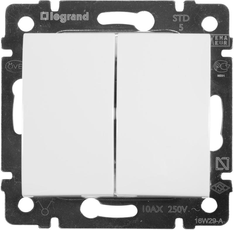 Коробка Legrand Valena Allure для накладного монтажа 2-постовая белый 755552