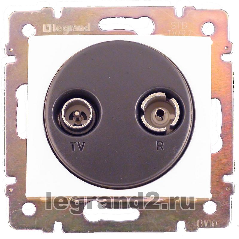 Коробка Legrand Valena Allure для накладного монтажа 1-постовая алюминий 755571